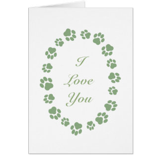 """I Love You"" Card for Cat People"