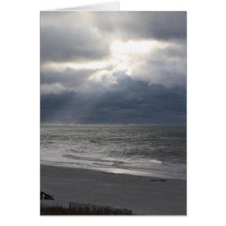 I LOVE YOU card of the beach