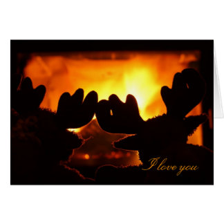 I love you card. Warm, cozy evening Card
