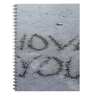 I Love You Carved Into the Sand Notebooks