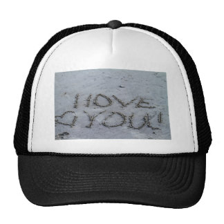 I Love You Carved Into the Sand Trucker Hat
