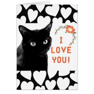 """I Love You"" Cat Note Cards"