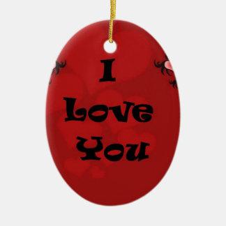 I love you  . . ceramic ornament