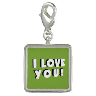 I love you! charm