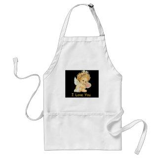 I love you cherub apron