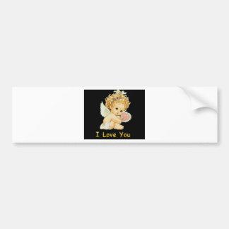 I love you cherub bumper sticker