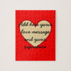 I Love You customizable message Jigsaw Puzzle