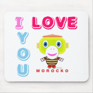 I Love You-Cute Monkey-Morocko Mouse Pad