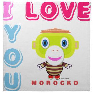 I Love You-Cute Monkey-Morocko Napkin