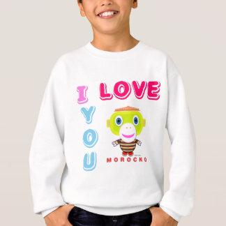 I Love You-Cute Monkey-Morocko Sweatshirt
