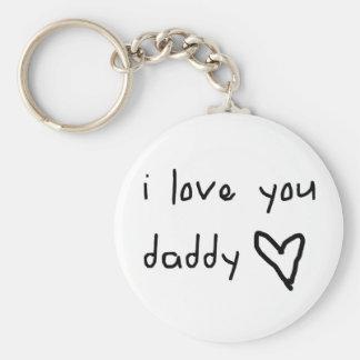 I Love You Daddy Keychain