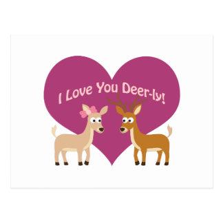 I Love You Deer-ly! Postcard