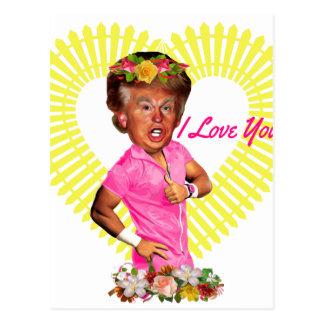 i love you donald trump postcard