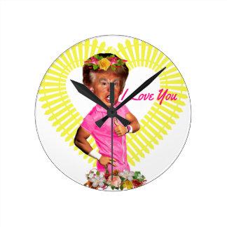 i love you donald trump round clock