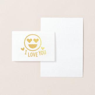 I Love You Emoji Foil Notecards Foil Card