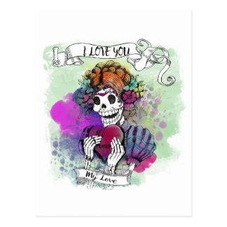 I love you even if I die - Te amo mi amor Canvas P Postcard