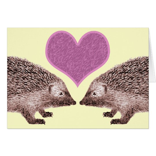 I Love You Even When You Get Prickly Two Hedgehogs Card