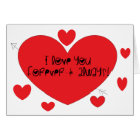 I love you forever and always card