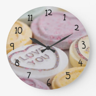 I Love You Forever Heart shaped Candy Wall Clocks