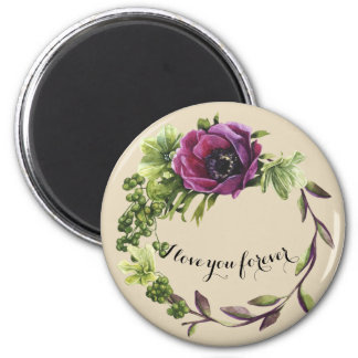 I love you forever Standard Round Magnet