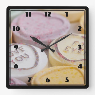 I Love You Forever Sweet Candy Valentine Hearts Clock