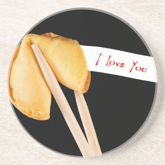 I Love You Fortune Cookie Coaster