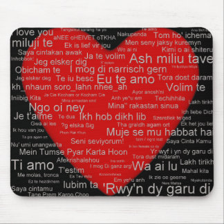 I Love You From Around The World  - mousepad