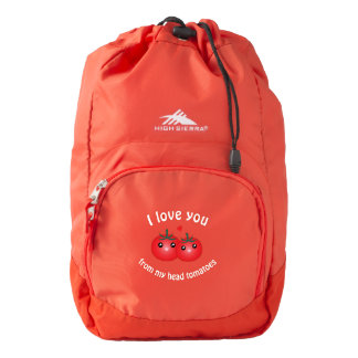 I Love You From My Head Tomatoes Funny Fruit Pun Backpack
