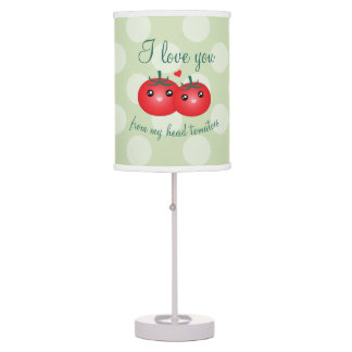 I Love You From My Head Tomatoes Funny Fruit Pun Table Lamp
