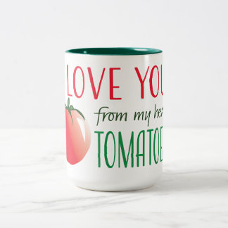 I love you from my head tomatoes Two-Tone coffee mug