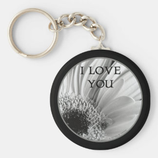 I Love You - Gerber Daisy Keychain