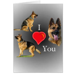 I Love You German Shepherd Card