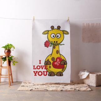 i love you giraffe fabric