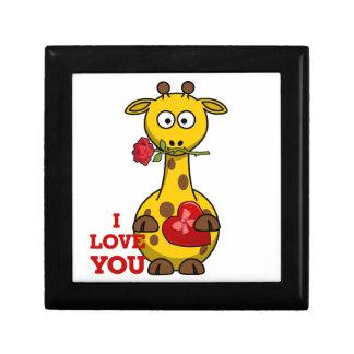 i love you giraffe gift box