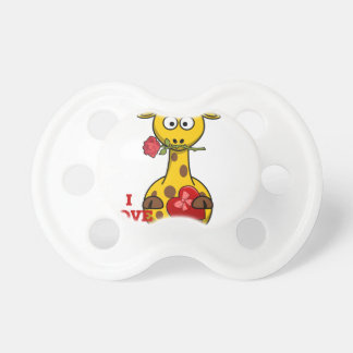 i love you giraffe pacifier