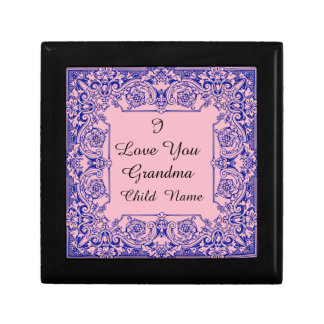 I LOVE YOU GRANDMA-CHANGEABLE BACKGROUND COLOR GIFT BOX