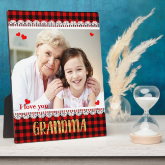 I love you Grandma Personalized Photo Collage Plaque