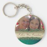 I love you Grandma photo frame & text keychains