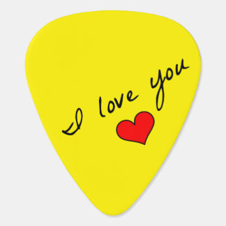I Love You Guitar Pick
