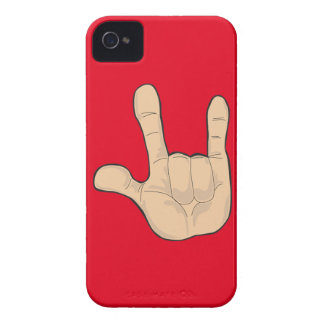I LOVE YOU HAND GESTURE Case-Mate iPhone 4 CASES