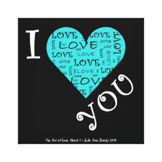 I Love YOU Heart I Gallery Wrapped Canvas