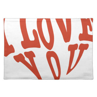 I Love You Heart Placemat