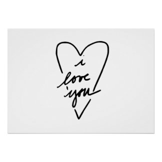 i love you Heart Posters