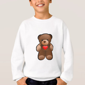I Love You Heart Teddy Bear Sweatshirt