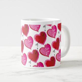 I Love You Hearts Giant Coffee Mug