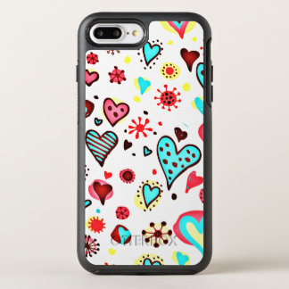 I Love You Hearts OtterBox Symmetry iPhone 8 Plus/7 Plus Case