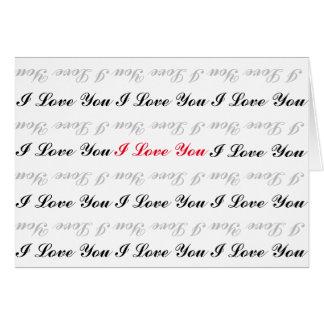 I Love You Horizontal Greeting Card