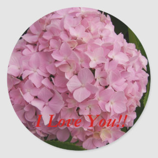 I Love You!! Hydrangea Stickers