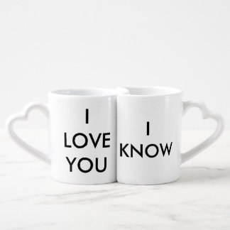 """""""I Love You"""" """"I Know"""" Couples Connecting Mugs"""