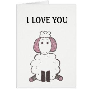 I love You - I Love Ewe Card